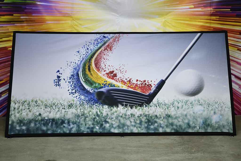 Bean banner; Golf banner; Sandwich Banner; Popup banner; Frame banner pop-up; Golf display