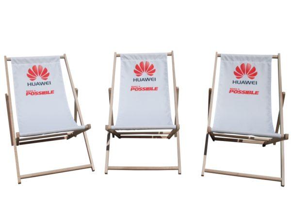 Sedia sdraio stampata; Sdraio personalizzata; Sdraio Stampata; Deckchair; Advertising deckchair; Sdraio pubblicitaria; Sedia sdraio in legno stampata